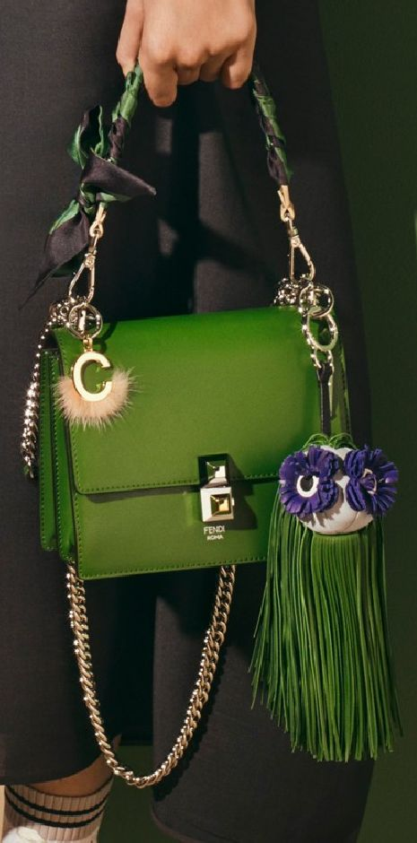 Fendi green spring 2017 bag on Fashion and Cookies fashion blog, fashion blogger