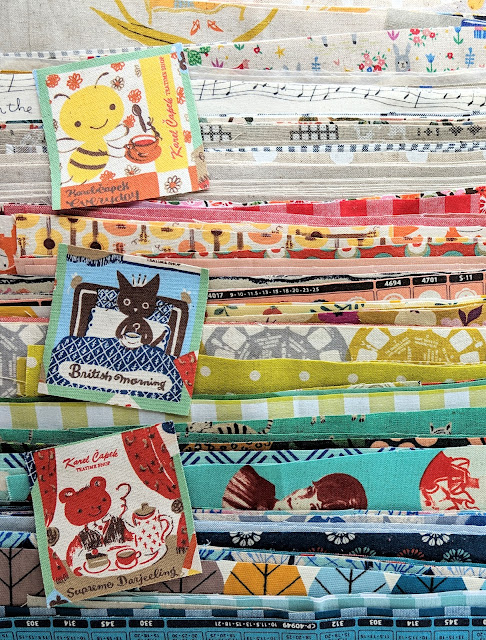 Fabric for Linen and Canvas Log Cabin Quilt by Heidi Staples for Fabric Mutt