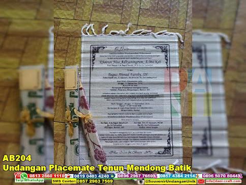 jual Undangan Placemate Tenun Mendong Batik