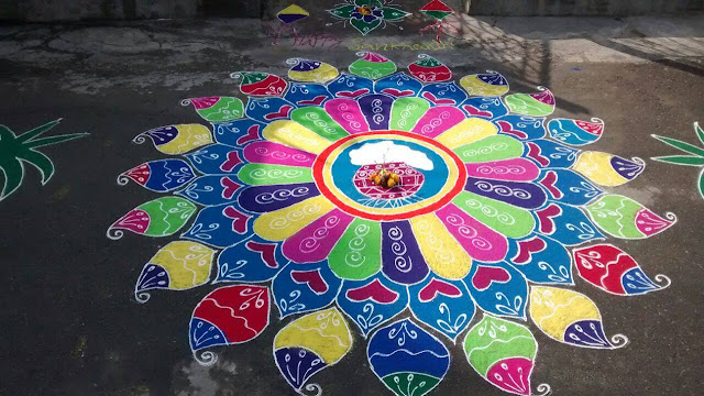 Rangoli Design for Pongal 35