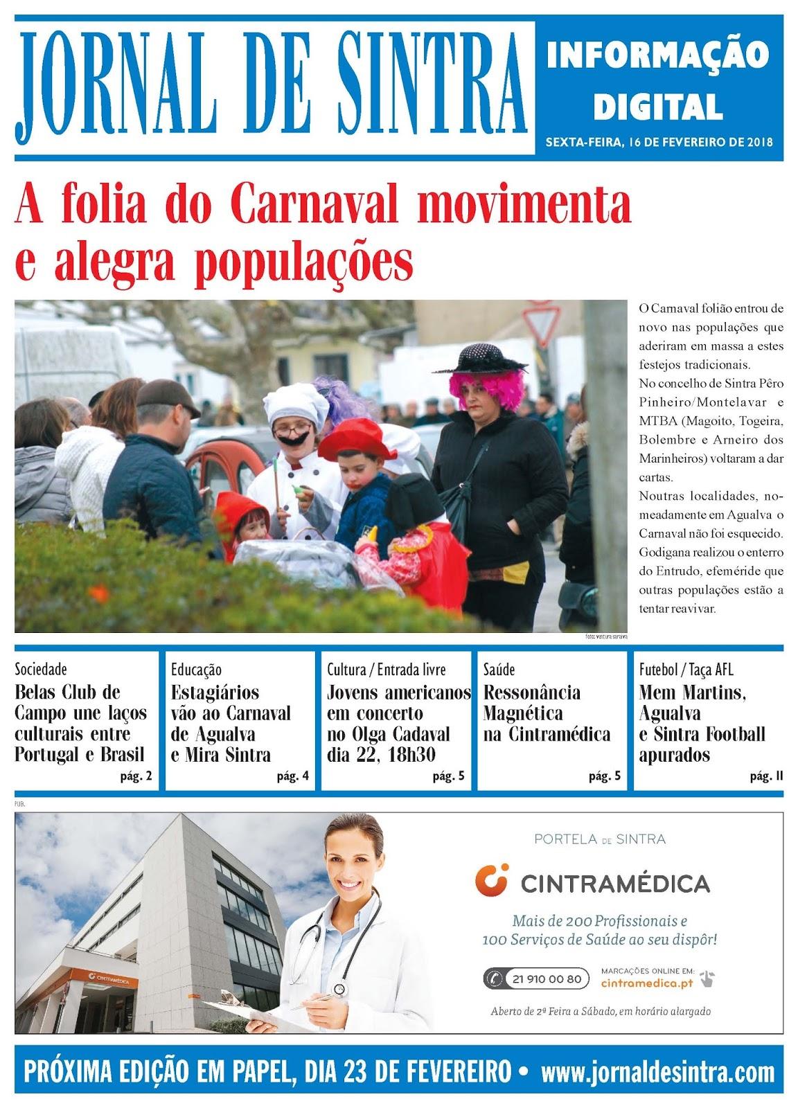 Capa da edição de 16-02-2018