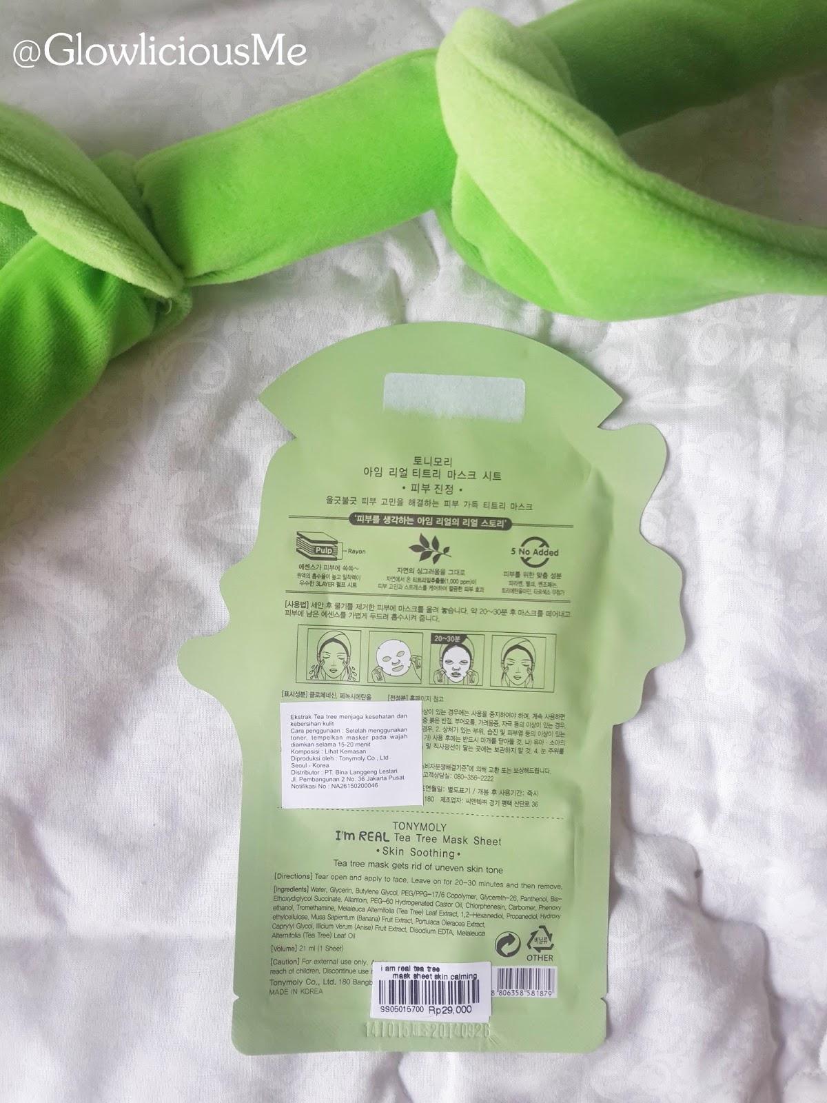 I'm Real Tea Tree Sheet Mask by TONYMOLY #17