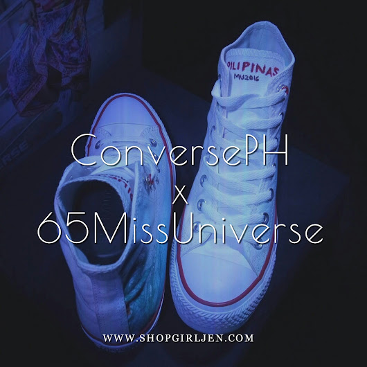 MISS UNIVERSE CANDIDATES CUSTOMIZED CONVERSE SNEAKERS FOR AUCTION #CONVERSEPHX65MISSUNIVERSE