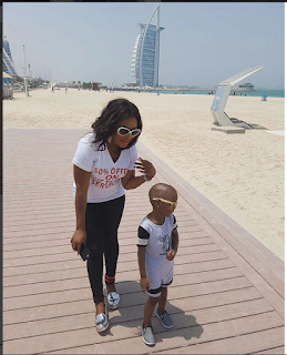Actress Liz Dasilva And Her Son, Abdulroheem Enjoy Their Vacation Touring Dubai