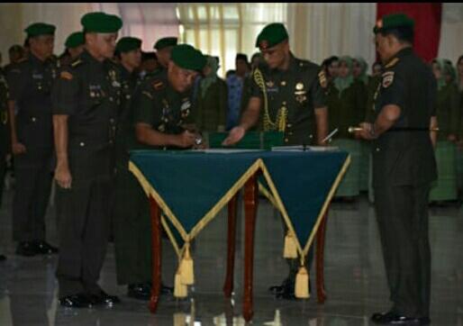 Kolonel Inf Raden Wahyu Sugiarto, S.I.P., M.(HAN). Resmi Jabat Danrem 022/PT