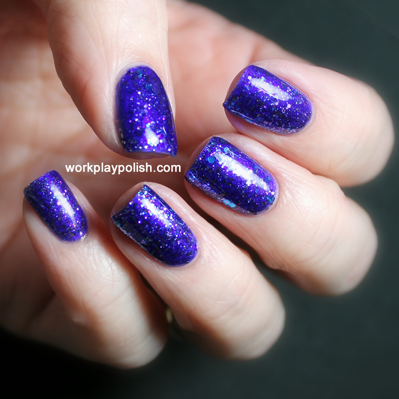Shimmer Polish Leslie over Sinful Colors Let's Talk (work / play / polish)