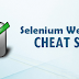 Cheat Sheet for Selenium Webdriver