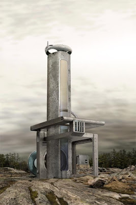 diseño arquitectónico de casa futurista