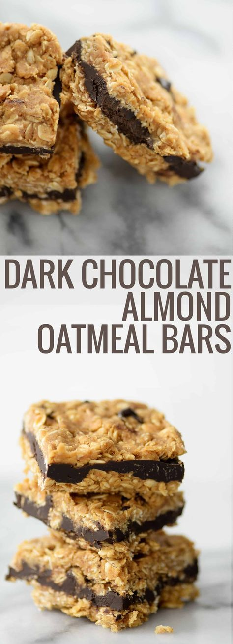 Dark Chocolate Almond Oatmeal Bars