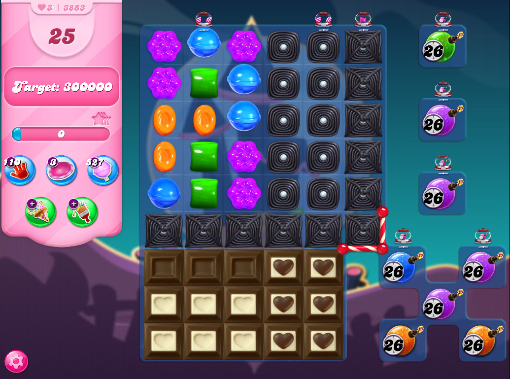 Candy Crush Saga level 3883