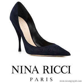 Queen Letizia wore Nina Ricci Blue Pointed Toe Court Shoes