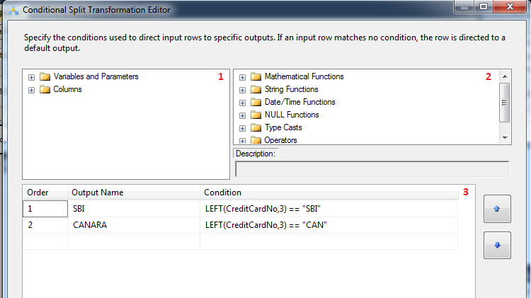 Configure Conditional Split