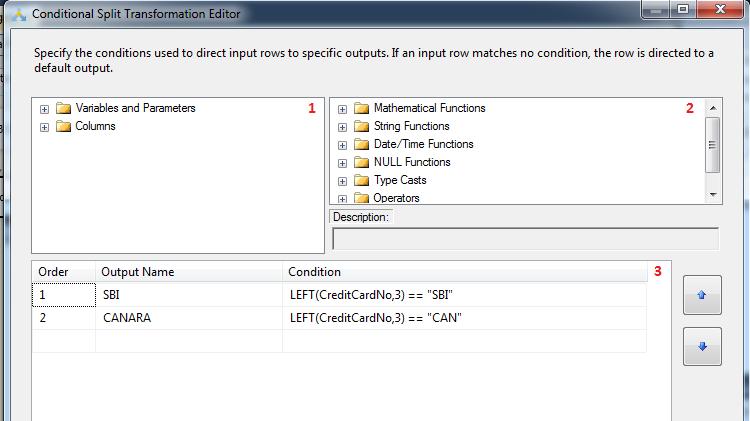 Configure Conditional Split