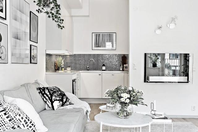 Dormitor la mezanin într-o mansardă de 51 m²