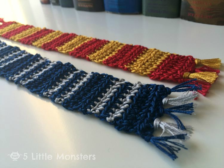 5 Little Monsters Hogwarts House Scarf Bookmarks