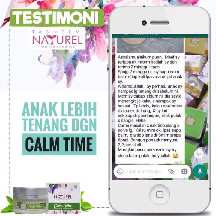 Testimoni Pengguna Tasneem Naturel