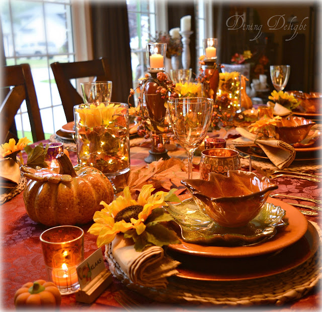Dining Delight: Thanksgiving 2017 Tablescape