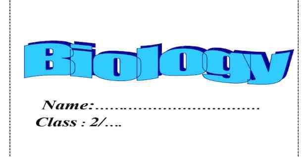 مذكرة بيولوجى Biology للصف الثاني الثانوي لغات ترم أول