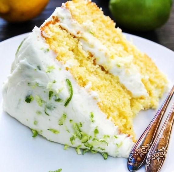 LEMON LIME LAYER CAKE #dessert #summer