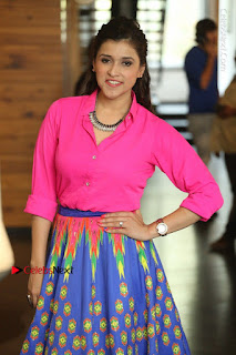 Actress Mannar Chopra in Pink Top and Blue Skirt at Rogue movie Interview  0115.JPG
