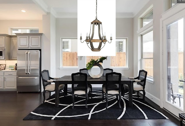New Home Lighting Options-Dining Room-Chandelier-Farmhouse-Industrial-Modern-French Country-From My Front Porch To Yours