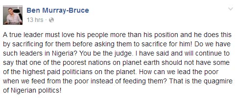 Politicians are overpaid! - Ben Murray-Bruce blasts Nigerian leaders