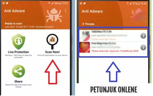 menghilangkan iklan yang muncul tiba tiba di android