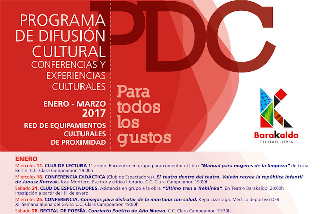 Programa de difusión cultural en enero
