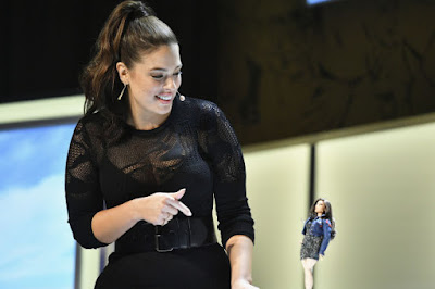 """Ashley Graham reveals the new Barbie at the """"Glamour"""" Women of the Year 2016 Summit on Monday in Los Angeles. Photo: Mike Windle/Getty Images for """"Glamour"""""""