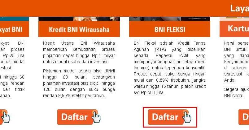 Begini Cara Pinjam Uang di Bank BNI Tanpa Jaminan - KTA ...