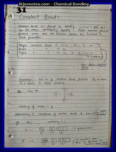 Chemical Bonding Notes IITJEE 7