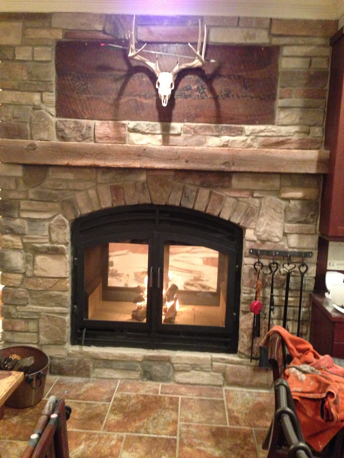 Acucraft Fireplaces: See Through Wood Burning Fireplace