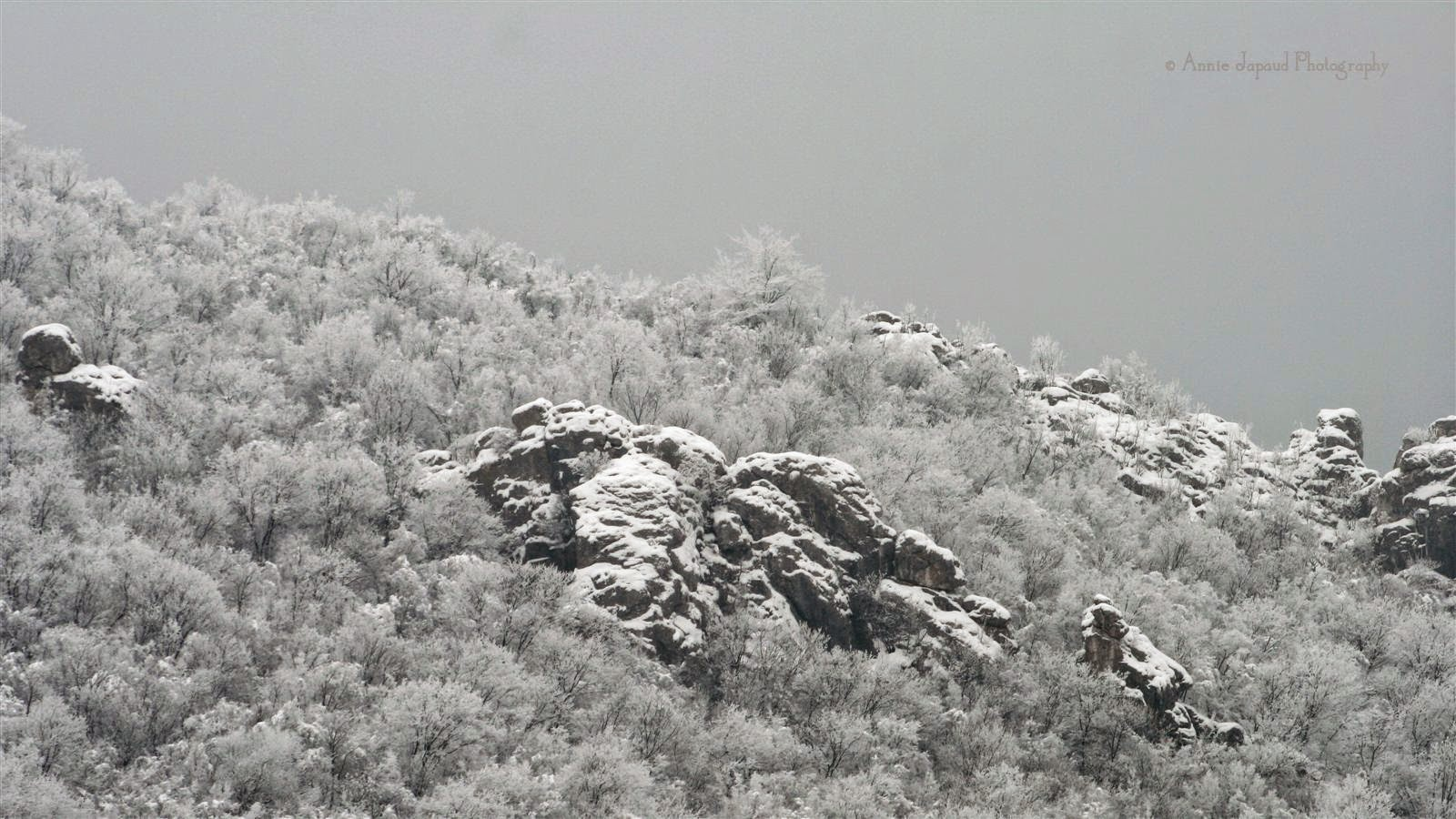 mountains in snow, Vratsa, Bulgaria