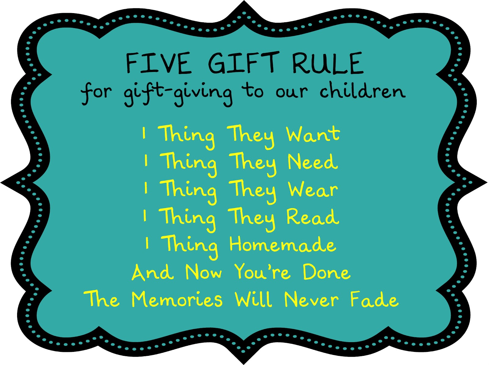 Birthing Me The Five Gift Rule In Action