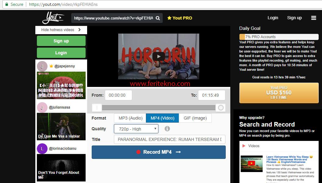 cara download video youtube tanpa software tambahan