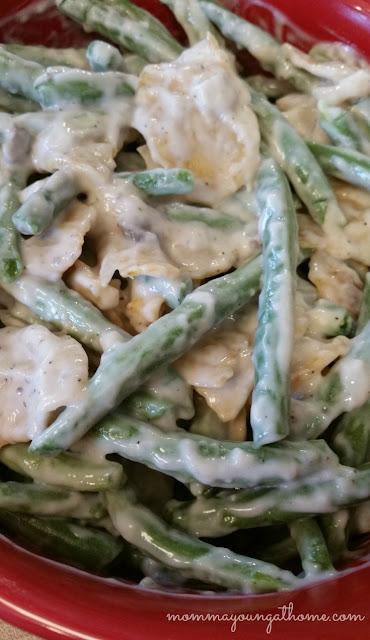 Spicy Green Bean Casserole Ready to bake
