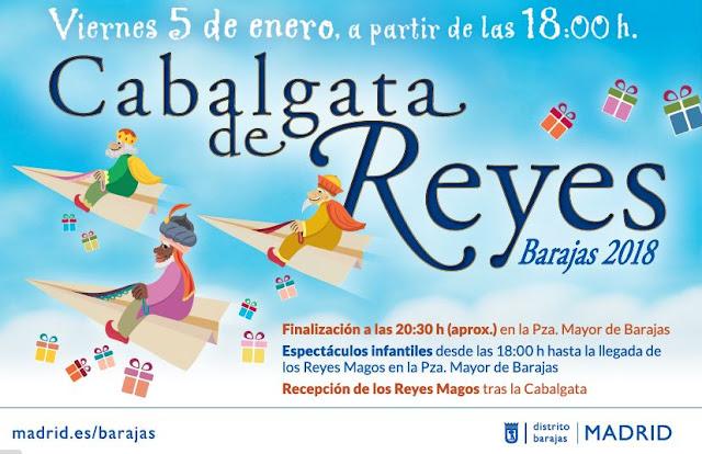 Cabalgata de Reyes en Barajas 2018