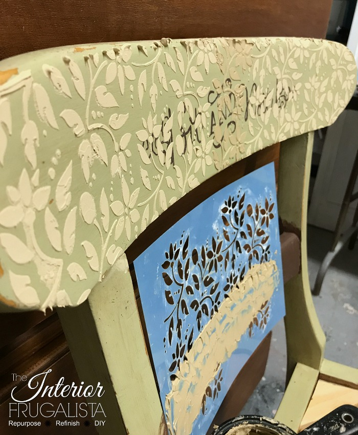 Raised Stencil Tutorial Embossed Chair Rail