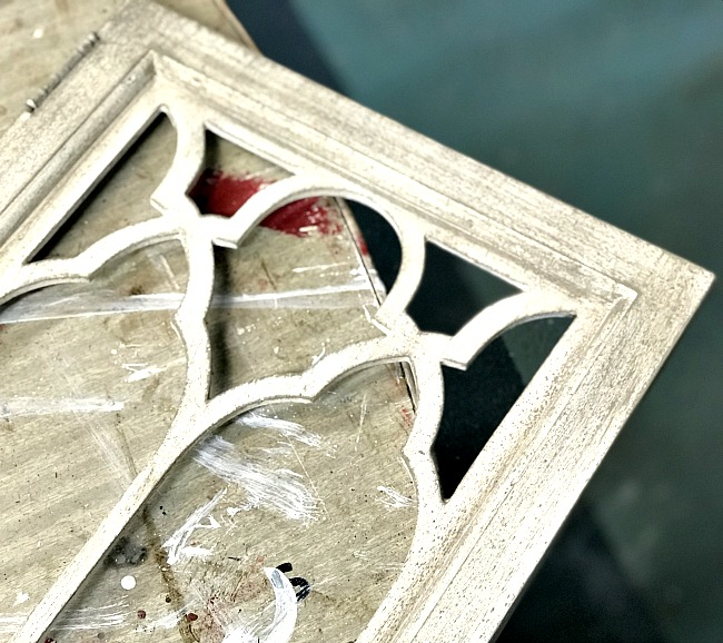 Painting a DIY Architectural Window with a dry brush technique