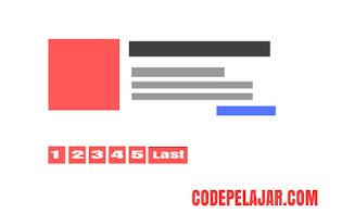 Cara Memasang Page Number Navigation di Blogger