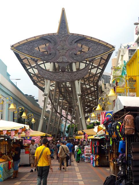 Central Market street, Kuala Lumpur, Malaysia