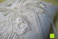 Bänder: Hochzeit Ringkissen mit Satin Bogen 21cm* 21cm