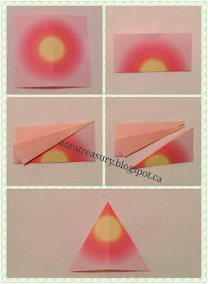 step by step in making valentine's origami lily