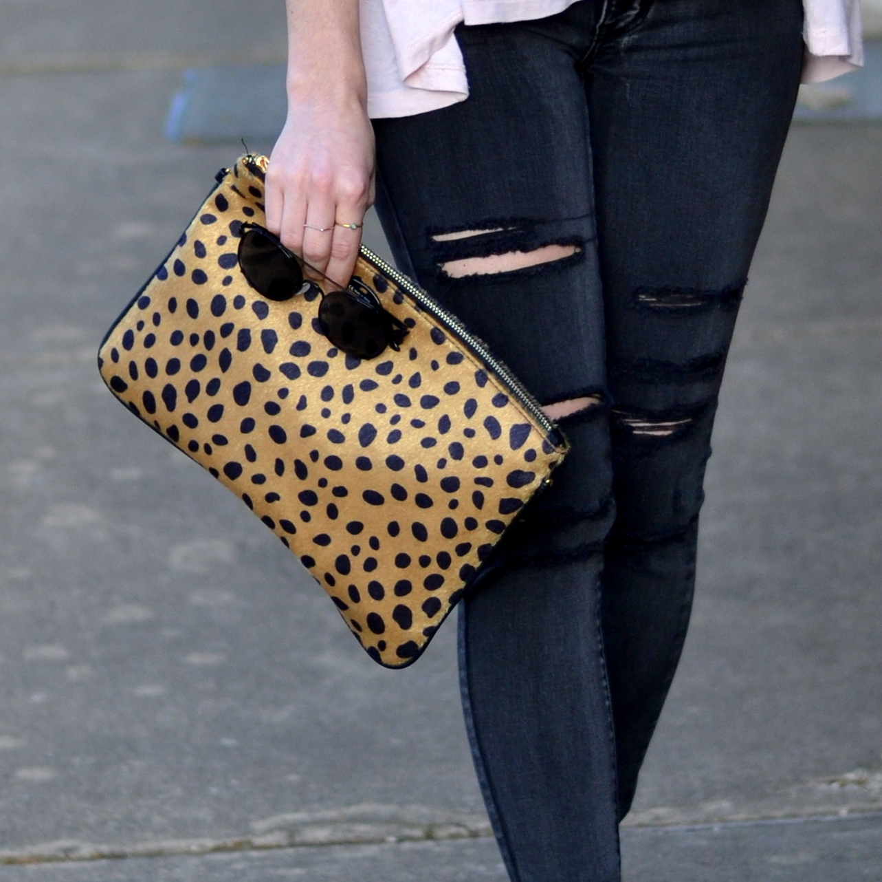 How to style a leopard clutch for a casual date night