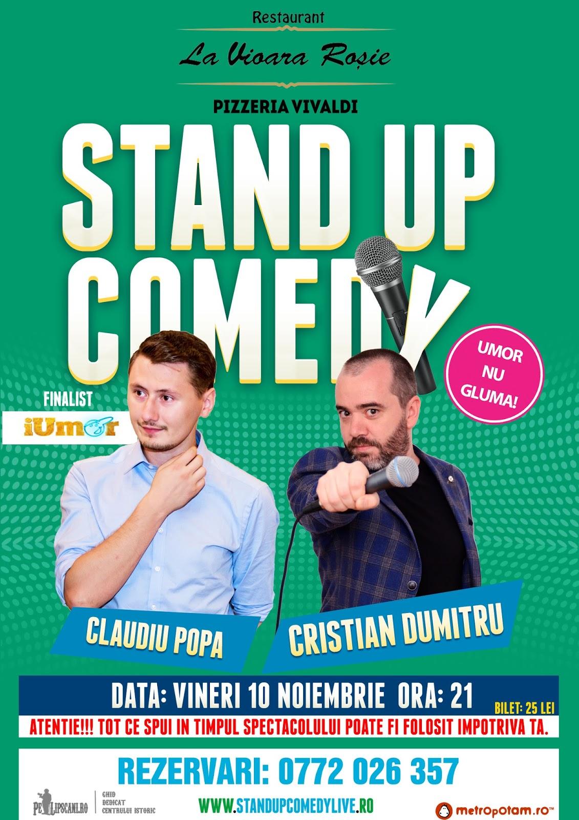 Stand-Up Comedy Bucuresti Vineri 10 Noiembrie 2017