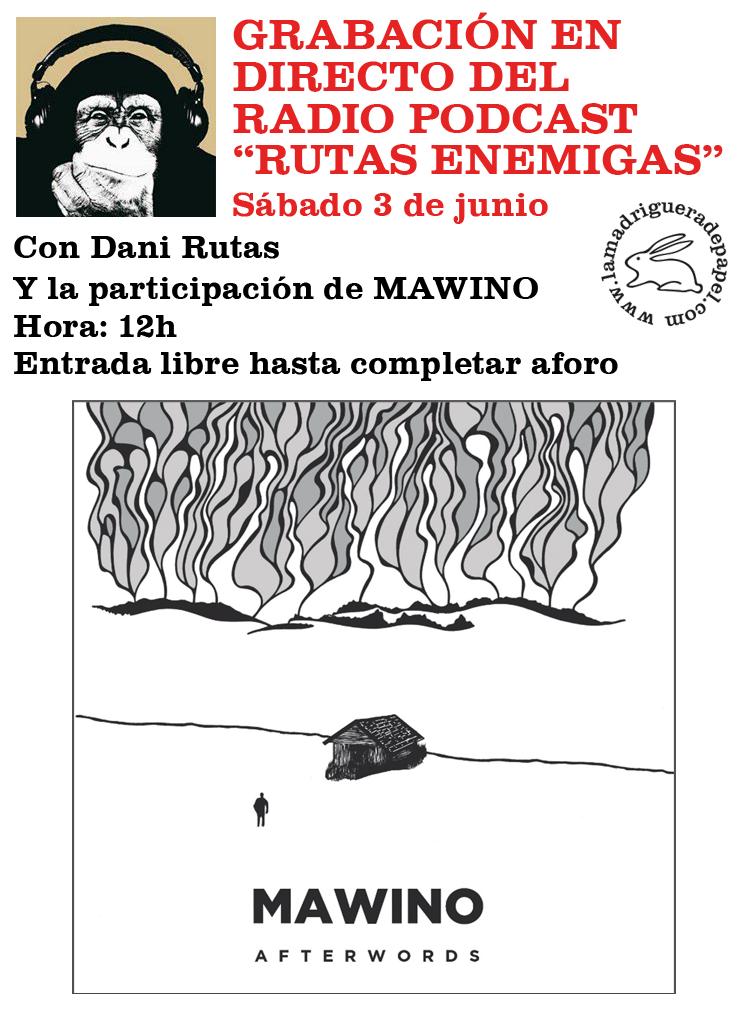 TOLEDO-LIBRERÍA-LA MADRIGUERA DE PAPEL-ACTIVIDADES-RADIO-RUTAS ENEMIGAS-MAWINO