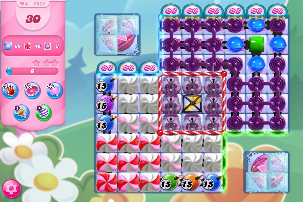 Candy Crush Saga level 7677