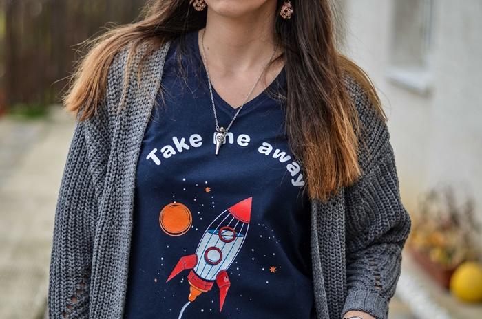 Originálne tričko Take me away