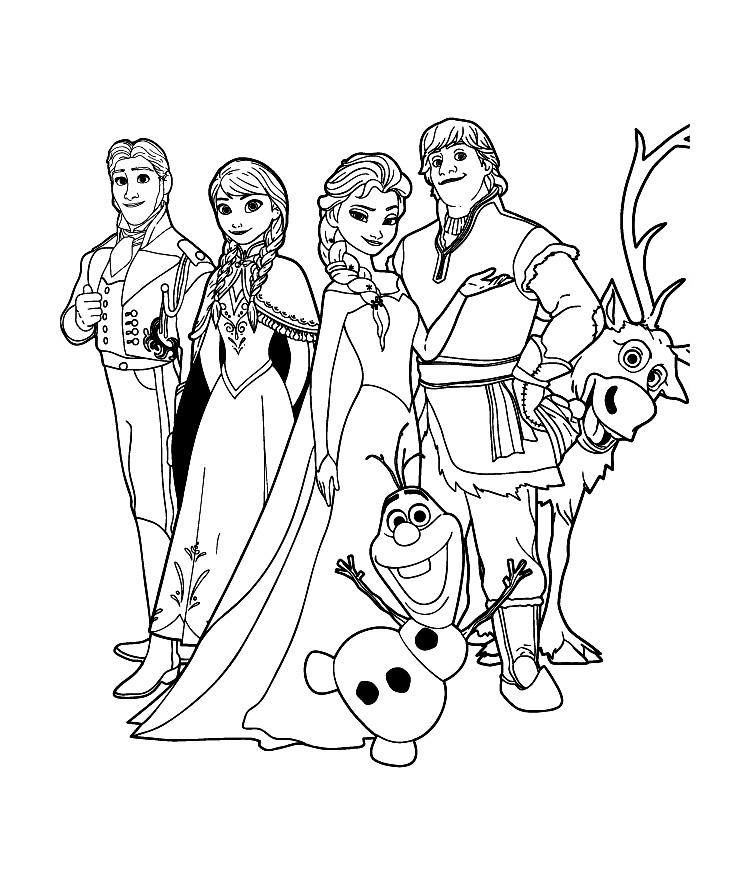 Tranh tô màu Elsa và Anna 07