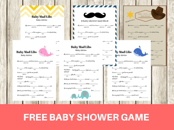 photo relating to Baby Shower Mad Libs Printable Free named Musings of an Ordinary Mother: Boy or girl Shower Online games